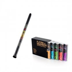 Meinl Didgeridoo (incl. nylon bag) SDDG-BK + 5 CD-box pvc, length 130cm, Black + 5 CD-BOX