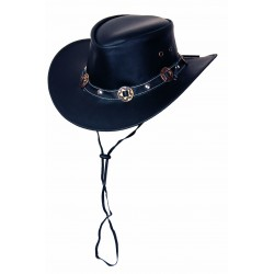 Leather hat Concho