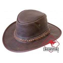 Scippis Kangaroo Sundowner Lederen hoed