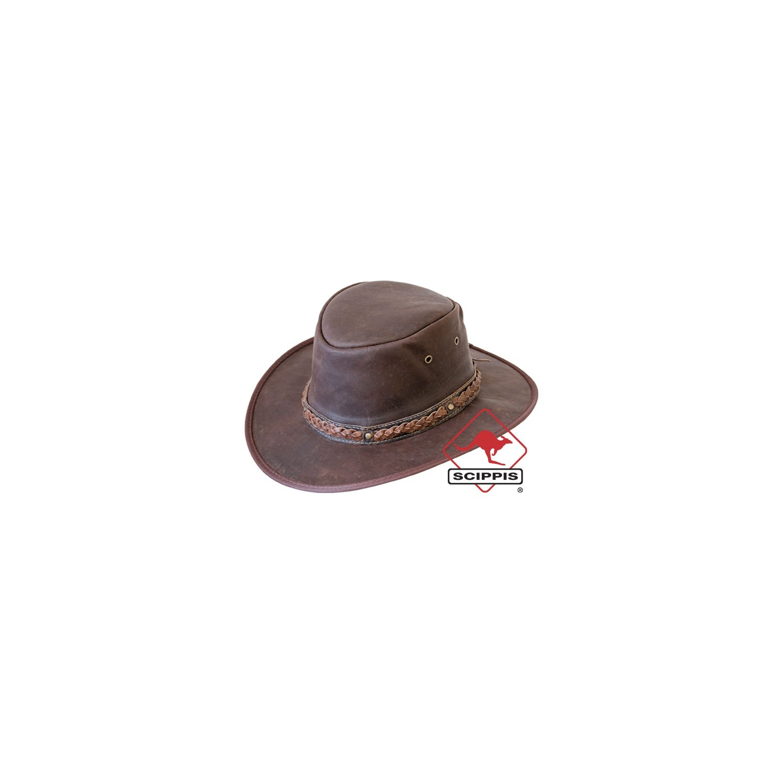 Scippis Kangaroo Sundowner leather hat