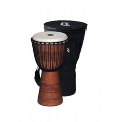 Meinl African Style Rope Tuned Wood Djembe Mahogany Wood.