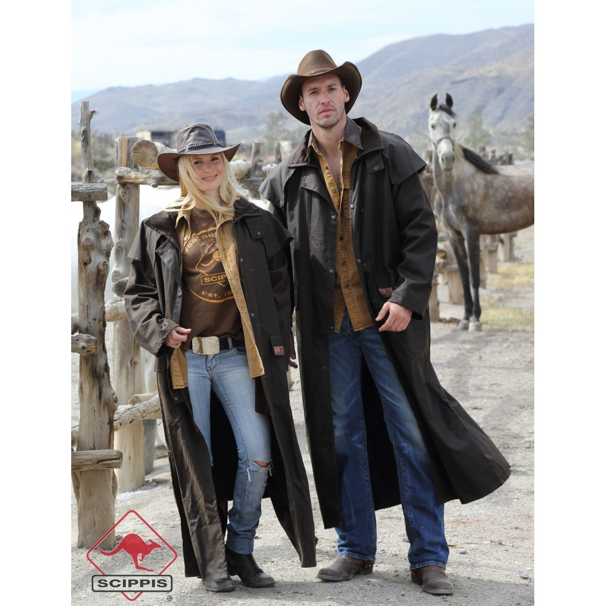 Riding Coat Scippis Horseriding Cowboy Style