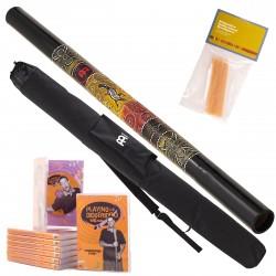 Meinl StartPaket A Didgeridu DDG1-BK + DVD + Wax + Bag