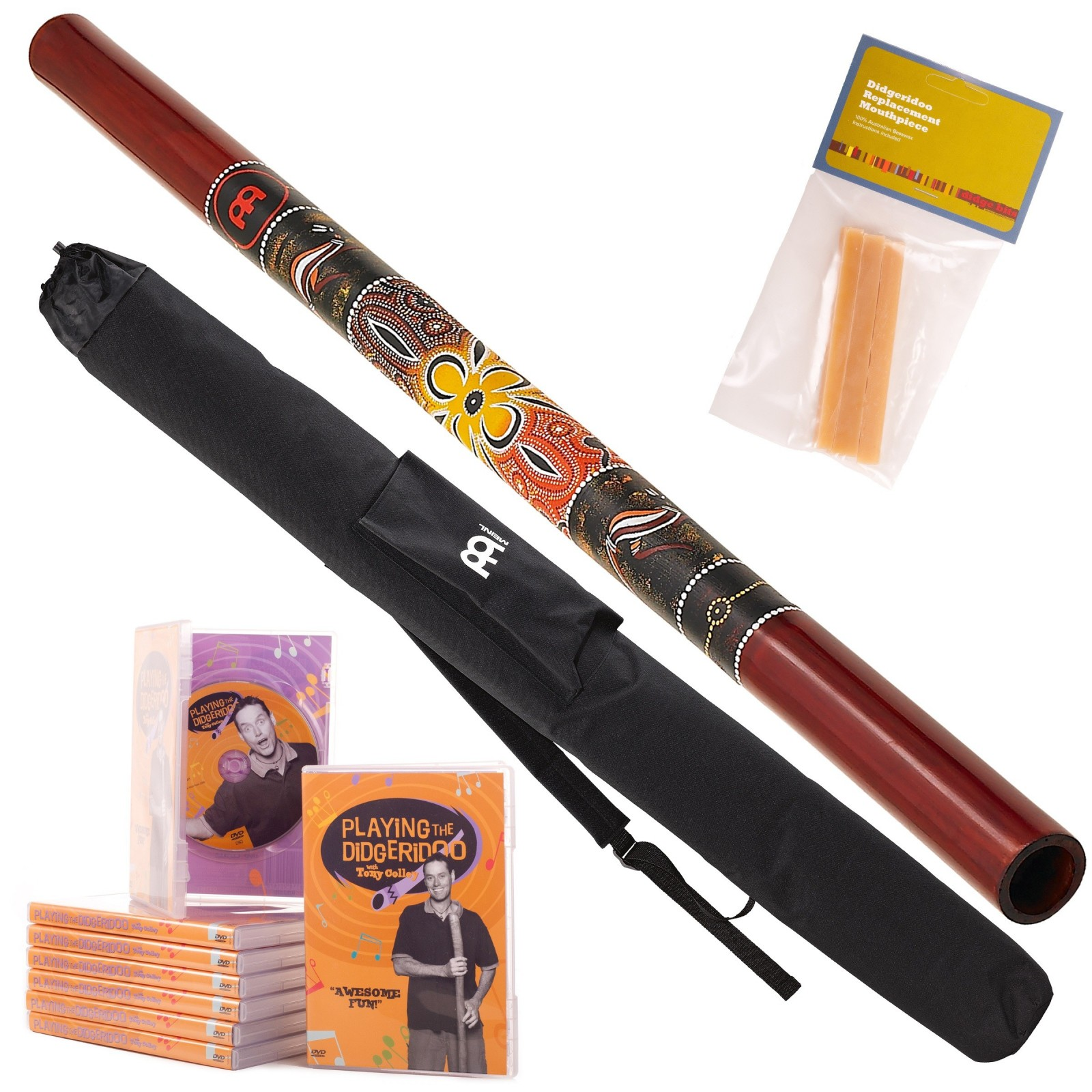 Starter Pack A Didgeridoo DDG1-R + DvD + Wax + Bag