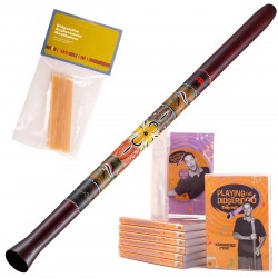 Meinl Didgeridoo +  SDDG1-R + Nylon Bag + instruction DVD + Wax