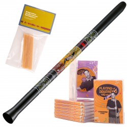 Meinl Didgeridoo SDDG1-BK + instruction DVD + cire