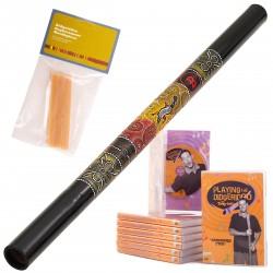 Meinl StartPaket A Didgeridu DDG1-BK + DVD + Wax