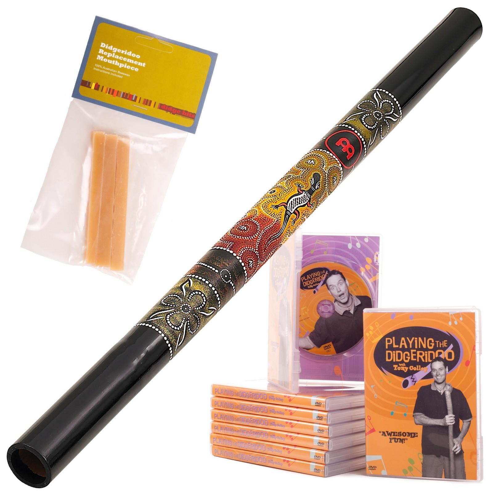Starterspakket A  Didgeridoo DDG1-BK + DvD + Wax