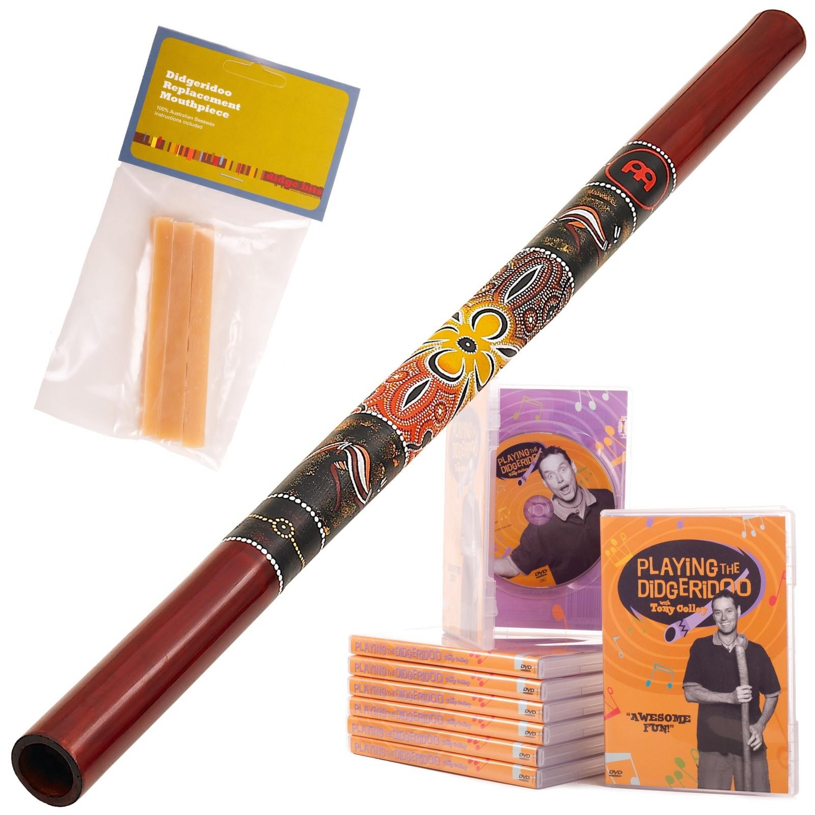 Starterspakket A  Didgeridoo DDG1-R + DvD + Wax