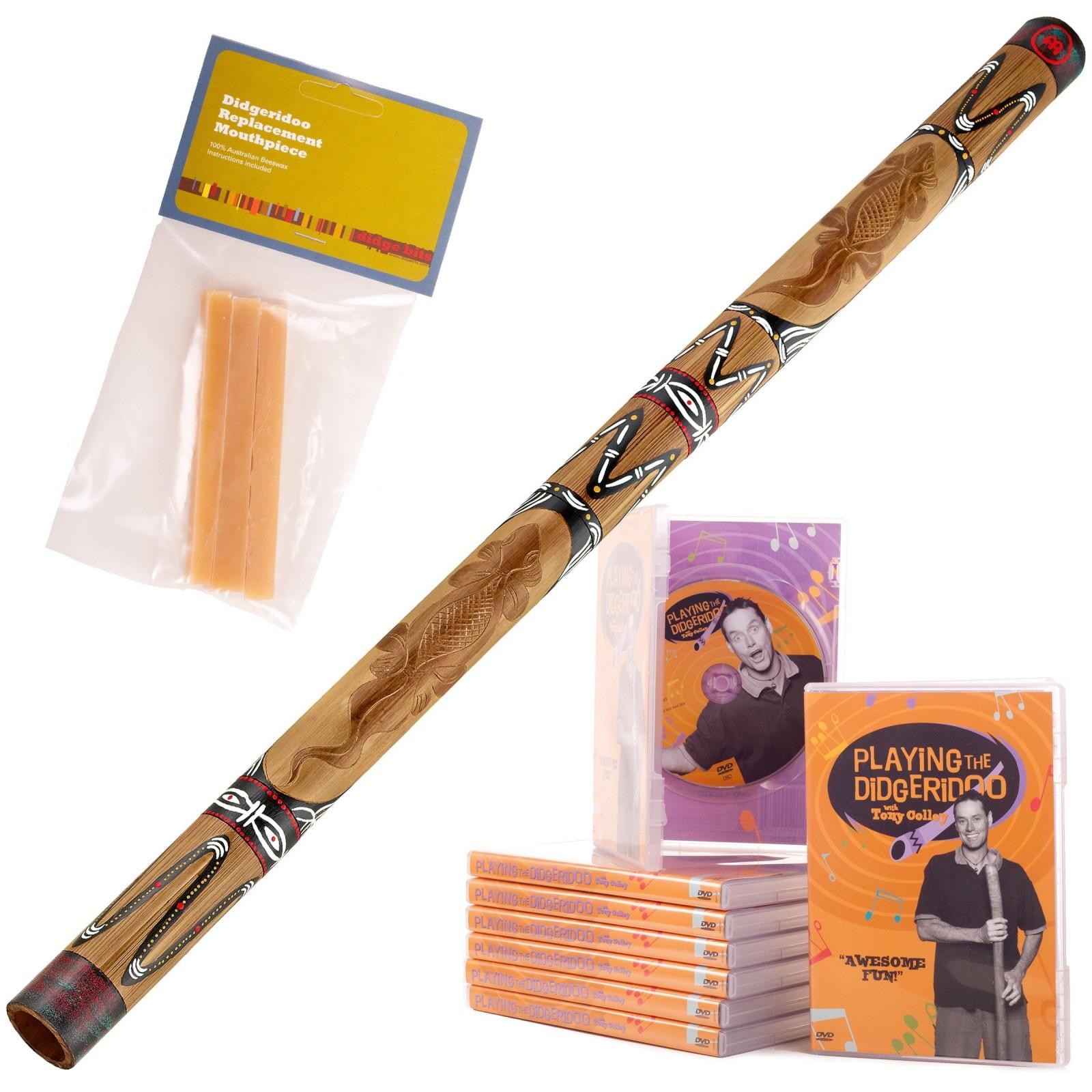 Starterspakket Didgeridoo DDG1-BR + DvD + bijenwas