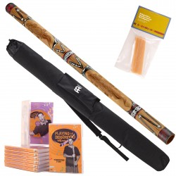 Starter Pack Didgeridoo DDG1-BR + DvD + beeswax + Bag