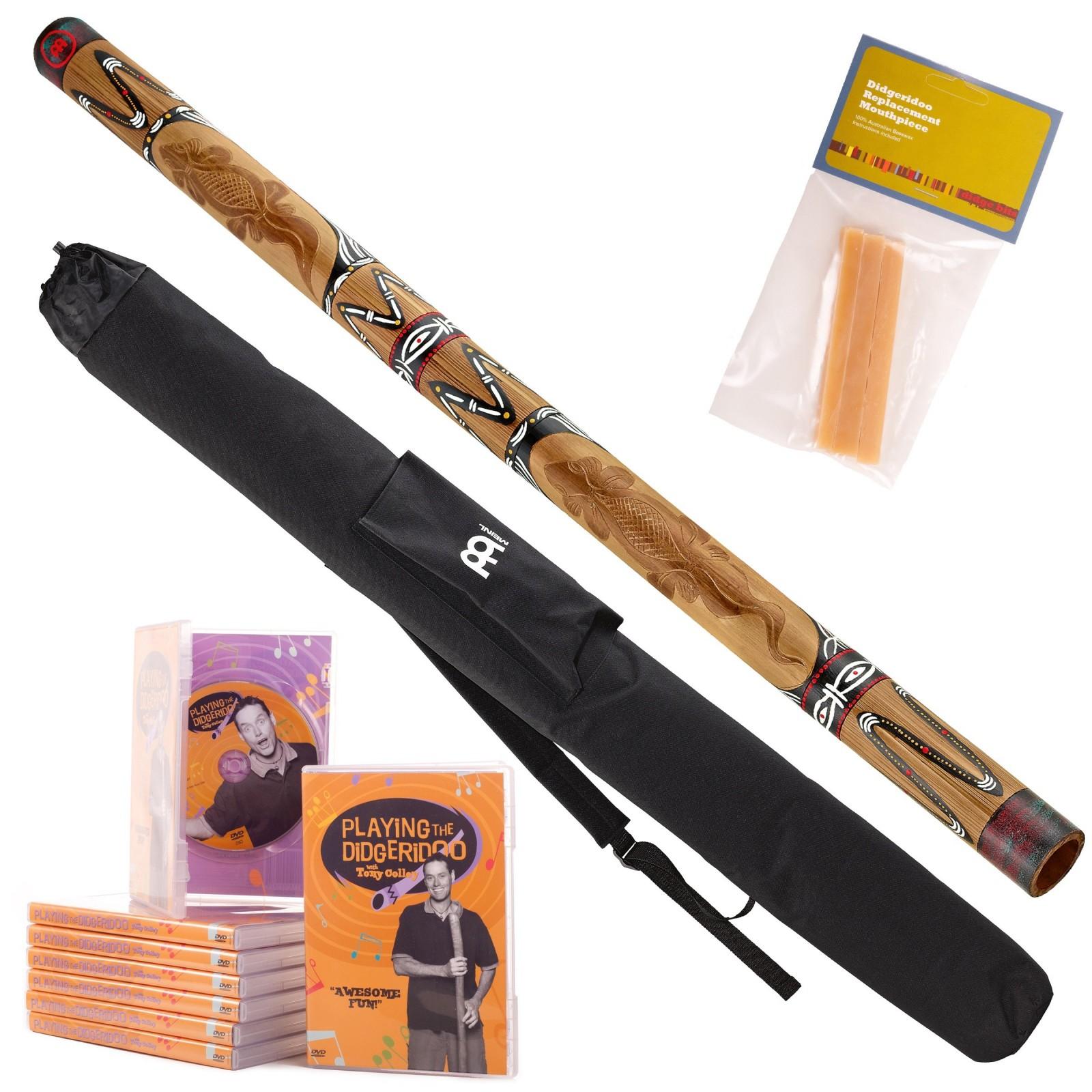 Starterspakket Didgeridoo DDG1-BR + DvD + bijenwas + Bag