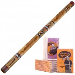 Starterspakket A  Didgeridoo DDG1-BK + DvD