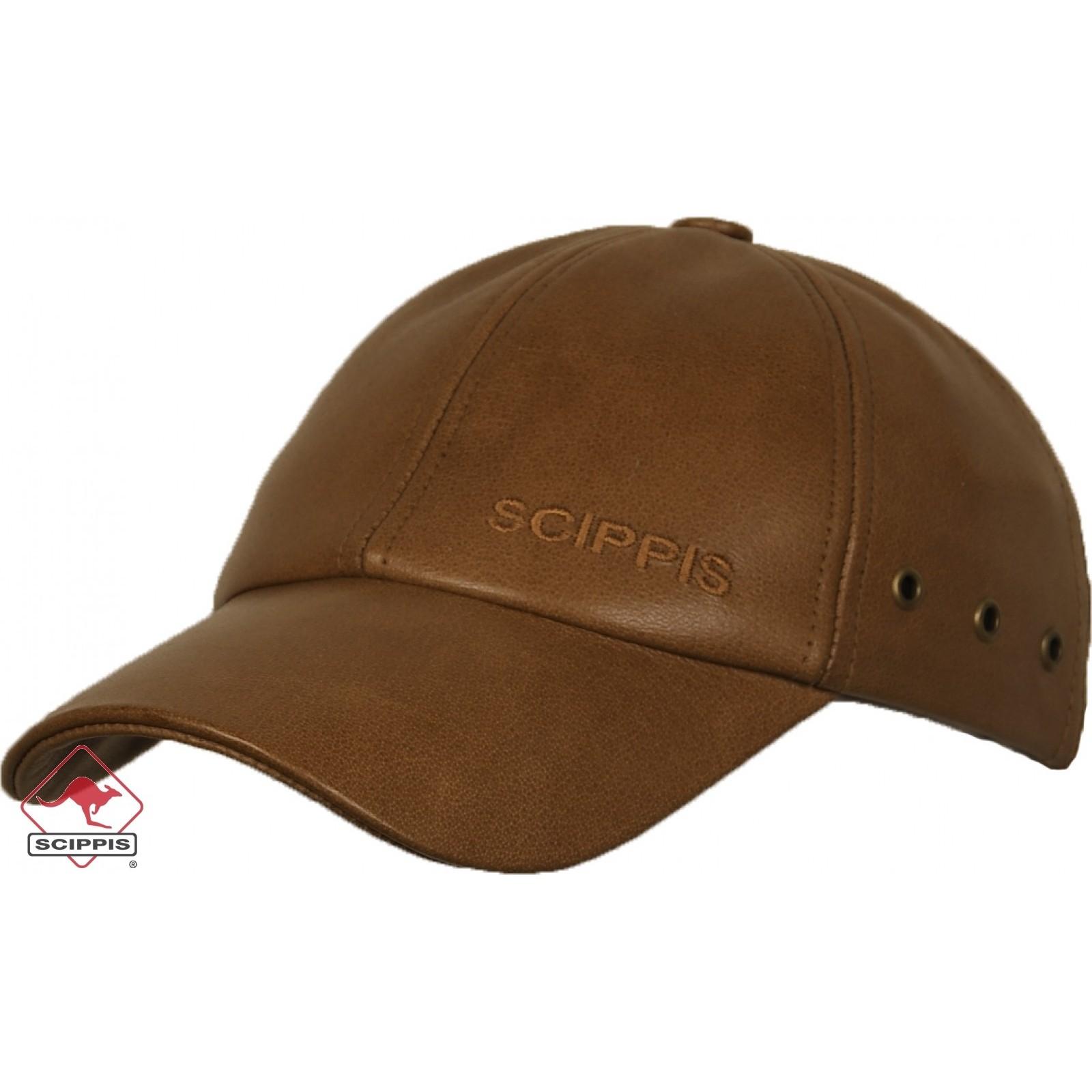 Läder Cap Buffalo