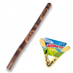 Didgeridoo '' tallada '' + Boomerang Pegasus