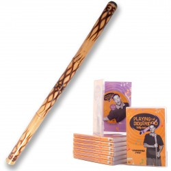 Didgeridoo Starterpack  ''flamed'' + DVD ''Playing the Didgeridoo''