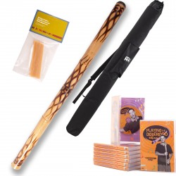 Didgeridoo ''flamed''  + Australian beeswax + DVD + Bag