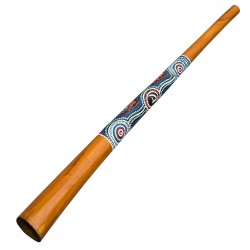 Didgeridoo 130cm - legno - con dipinti aborigeni - didgeridoo per principianti
