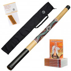 Starterspakket Australian Treasures Bamboe Didgeridoo (natural) + Bag + DvD + Wax