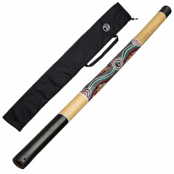 Australian Treasures Didgeridoo (naturel) + Bag