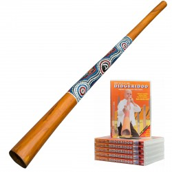 Didgeridoo Starterpack ''Natural Paint'' +  DVD