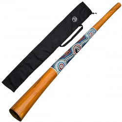 DIDGERIDOO NATURAL PAINT 130cm - Didgeridoo bag - wood didgeridoo