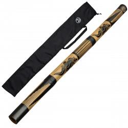 DIDGERIDOO CARVED: didgeridoo bambu con borsa didgeridoo in nylon