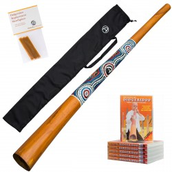 Didgeridoo wood 130cm - didgeridoo for beginners - starter kit - including DVD/ bag/ beeswax