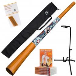 Didgeridoo ''Natural Paint'' +  DVD + Bijenwas + Bag + Didgeridoostandaard