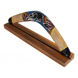 Australian Treasures boomerang 50cm (19.6'') Kangaroo including hardwood display stand
