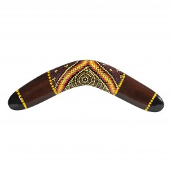 Australian Treasures - boomerang 11.8'' - wood - handpainted & handcrafted - boomerang for kids