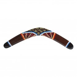 Handpainted Boomerang - size 19.6'' - wood - kangaroo - handpainted boomerang - outdoor sports