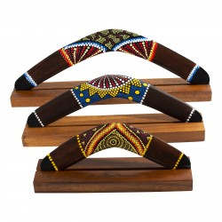 Australian Treasures Bumerangset 3x Bumerang braun/ dotpainting  inclusive Bumerang Standards
