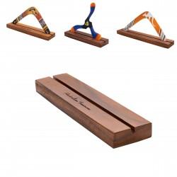 SOPORTE DE BOOMERANG: Madera robusta y boomerang estándar hecho a mano para todo tipo de bumeranes de hasta 30 cm.