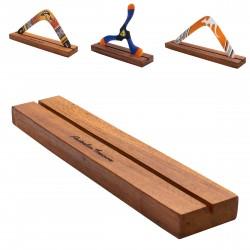 BOOMERANG STAND: Bois dur robuste et boomerang standard pour tous les types de boomerangs jusqu'à 40 cm