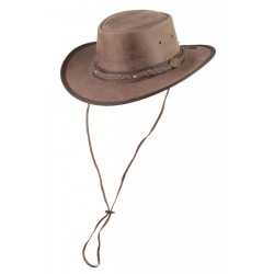 Henbury leather hat