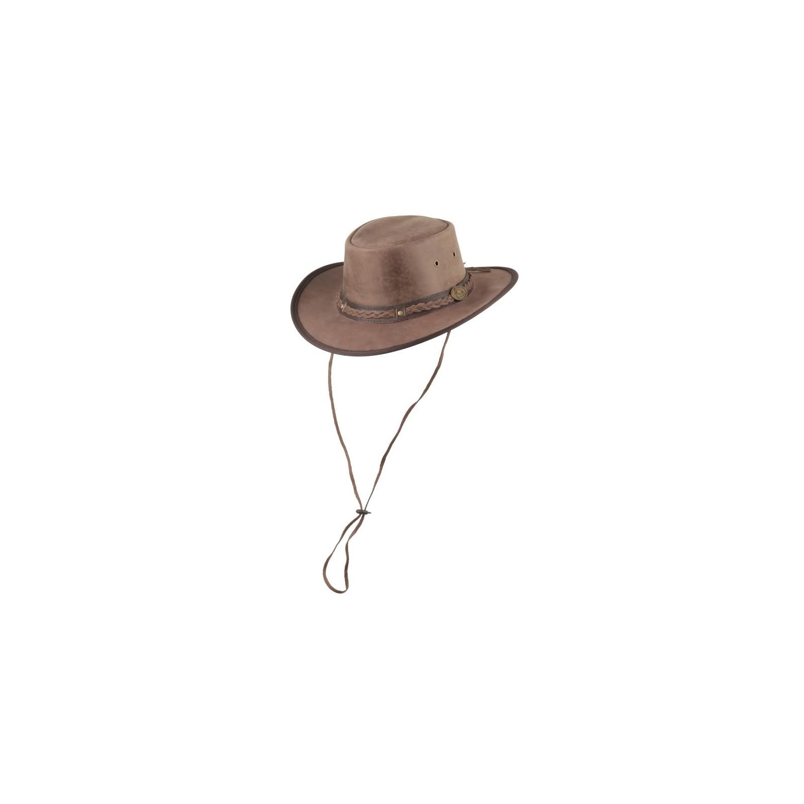 Henbury lederen hoed met kinband