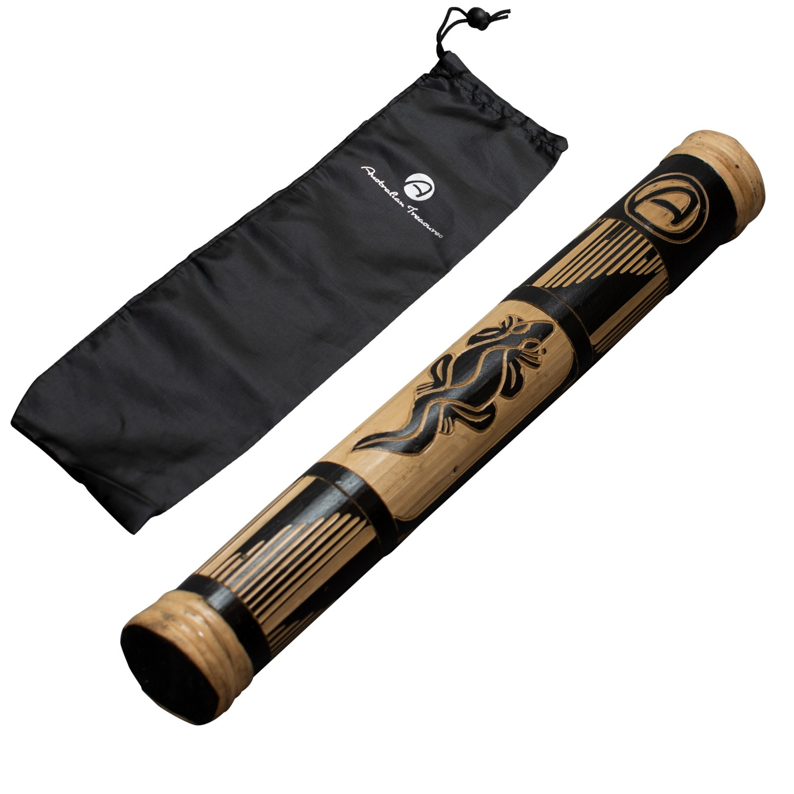 Rainstick 40cm carved
