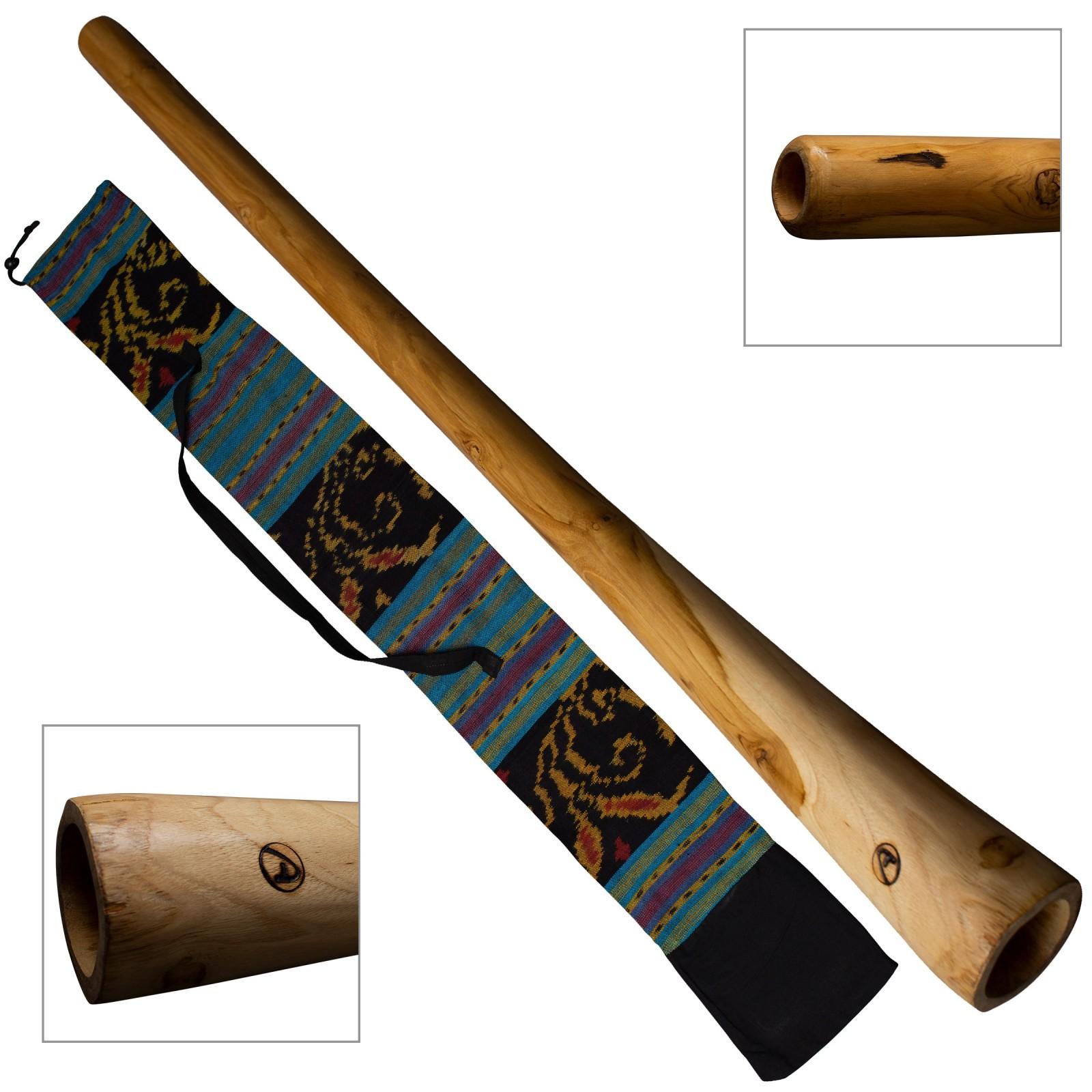 Houten didgeridoo inclusief tas