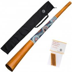 DIDGERIDOO 130cm - ''natural paint'' inclusief  bijenwas en didgeridoobag. Didgeridoo voor beginners - 130cm