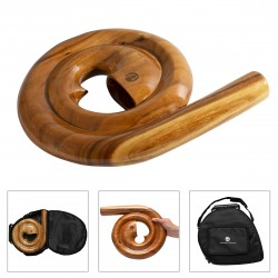 Australian Treasures Spiral Travel Didgeridoo - AT-Spiral including travelbag!