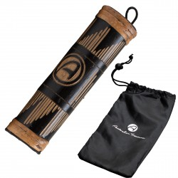 Rainstick 20cm carved including nylon bag