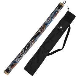 Rainstick 80cm painted including nylon bag