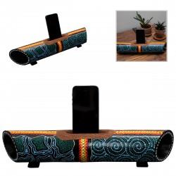 Smartphone Speaker & Stand Aboriginal Style