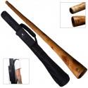 DIDGERIDOO: mogano PRO 147 cm con borsa didgeridoo in nylon