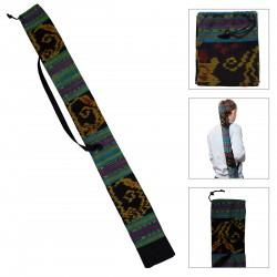 DIDGERIDOO VÄSKA 125 cm - Didgeridoo väska av Ikat tyg. Bell Ø 8 cm. Inkluderar bärbälte