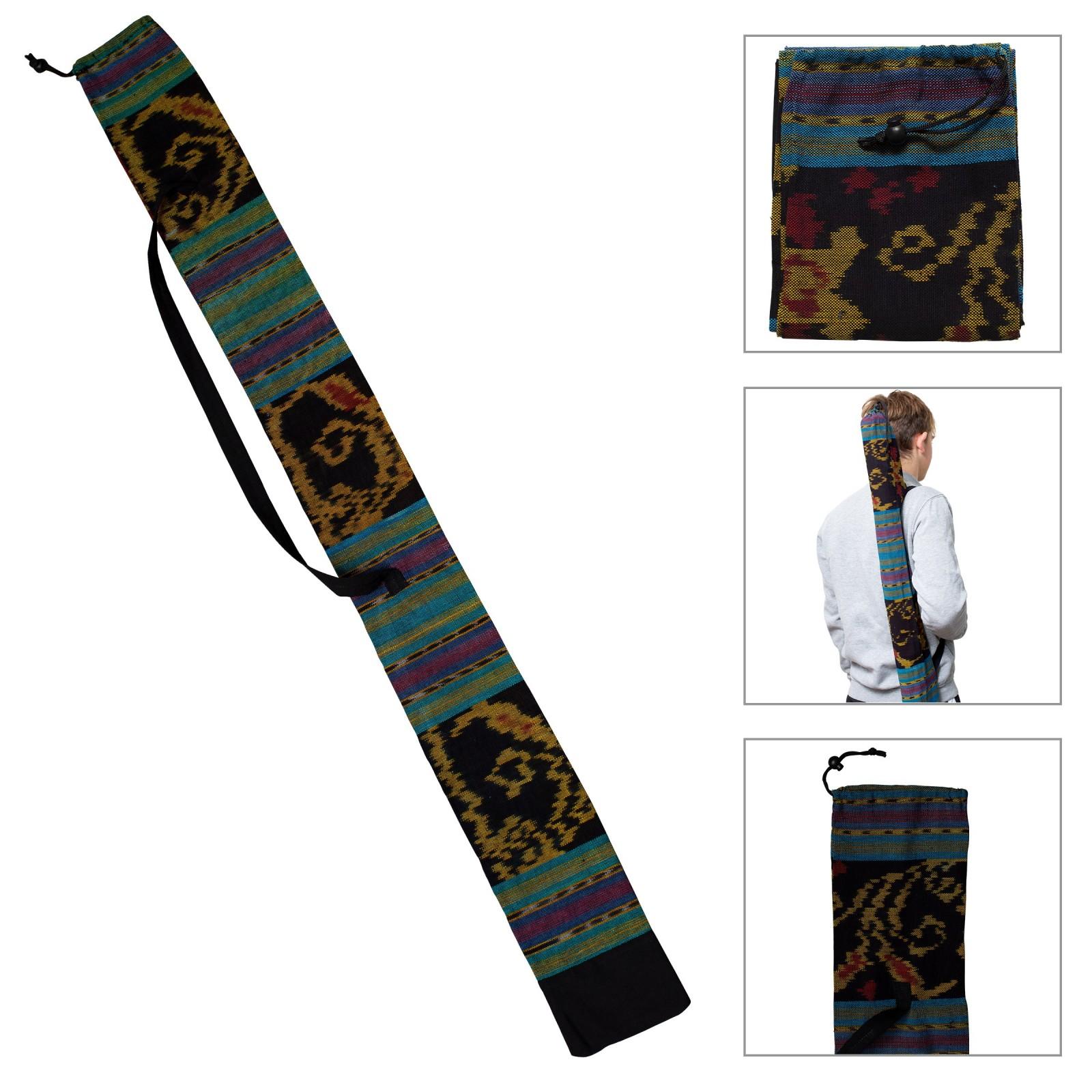DIDGERIDOO BAG 125 cm - Sac Didgeridoo en tissu Ikat. Diamètre Ø 8 cm. Y compris sangle de transport
