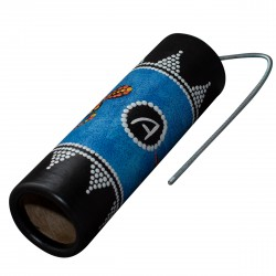 Spring Drum AT- BLTD-25, Thunder Tube – Australian Aboriginal Graphics. 25cm