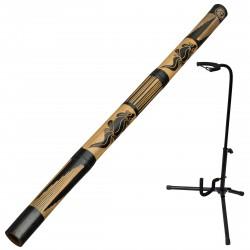 Bamboo didgeridoo including didgeridoostand
