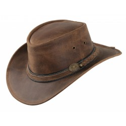 Irving leather hat